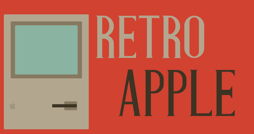 Retro apple rood