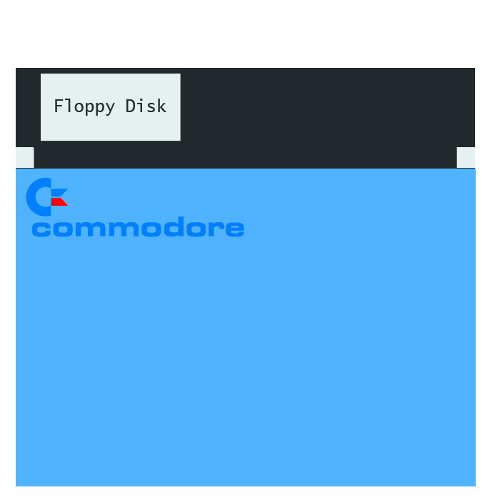 Floppy disk logo commodore